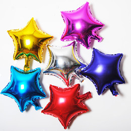 Wholesale Cheap Star Decorations - 18 inch Party Decoration Stars Balloon Cheap Sweet Party Balloons for Christmas Party Supplies For Wedding Event Decorations h312