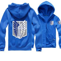 Wholesale Green Fleece Jacket Wholesale - New hot Advancing Titans clothing Fleece Hoodie Jacket zipper COSPLAY animation