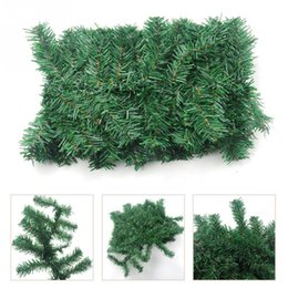 Wholesale Indoor Garland - Luxury Thick Mantel Fireplace Christmas Garland Pine Tree Indoor Happy New Year Christmas Decoration
