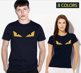 Wholesale Devil Plus Size - 2017 Luxury Brand T Shirt Monster Devil Golden Eye Men Women Fashion T-Shirts Streetwear Funny Lovers Gym Sport Clothing