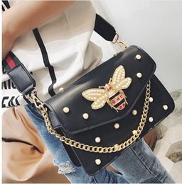 Wholesale Black Party Bag - rivet crossbody bags handbags women famous brands bee Diamond bag fashion designer shoulder bag high quality luxury party bags g