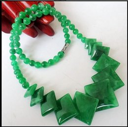 Wholesale Jade Pieces - new Women's necklace Natural cold jade Four pieces of cold jade necklace fashion necklace new lady