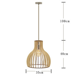 Wholesale traditional lanterns - Wood Pendant Light , Modern Contemporary Traditional Classic Rustic Lodge Bowl Vintage Retro Lantern Drum Country Island Globe Wood 85-240v