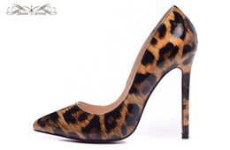 Wholesale Leopard Patent Leather Heels - WBP978A Size 34-42 Women's 12cm High Heels Leopard Print Patent Leather Pointed Toe Pumps, Ladies Luxury Brand New Wedding Party Dress Shoes