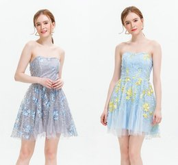 Wholesale New Fashion Sexy Cocktail Strapless - 2017 New Cheapest Gray Mini Short Prom Dresses Strapless Little Short Bridesmaid Dresses Elastic Cocktail Party Gowns Under 20