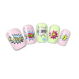 Wholesale Nail Art Wraps Water Transfers - Wholesale- New 1 Piece Nail Art Wraps NEW Fashion Hello Designs Latter Printing for Nails Tips Tools of Water Transfer Nail Sticker