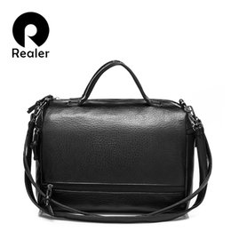 Wholesale Leather Tote Bags For Spring - Wholesale- Spring and summer new European PU leather motorcycle bag retro portable shoulder bag big messenger bag for women