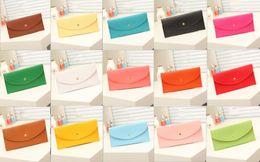 Wholesale Cheap Wholesale Fashion Handbag - Candy color 2016 men and women Wallet card bag handbag clutch women messenger bag of pu leather handbags cheap wholesale