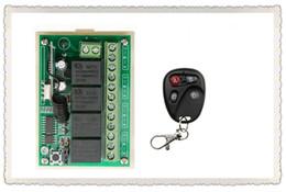 2019 inalámbrico de 4 canales remoto Al por mayor-DC12V 4CH 10A interruptor de control remoto inalámbrico teleswitch Receptor + Transmisores para electrodomésticos Gate Garage Door inalámbrico de 4 canales remoto baratos