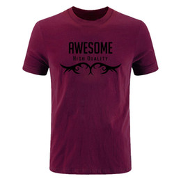 Conception t diy shirts en Ligne-Hommes New Summer Printed Men Hommes RWESOME T-shirt Conception de Bodybuilding Casual Fitness Funny Tops T-shirts T-shirts DIY-0253D