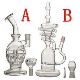 Wholesale Transparent Eggs - 2017 new arrival water bong transparent real glass bongs pipe oil rig skull tall large egg bong free ship