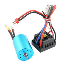 Wholesale Electric Rc Car Brushless - RC HSP 107051 BRUSHLESS 540 Motor 3300KV & 37017 Waterproof BRUSHLESS ESC 60A