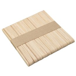 Wholesale Wax Applicators - 50PCS Pack Wooden Wax Stick Waxing Spatulas Applicator For Face Hair Removal