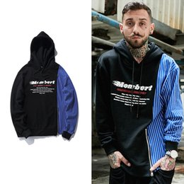 Wholesale Europe Winter Coat - Winter Hot Cotton Fashion Mens Patchwork Europe Street Vintage Hoodies Oversize English Printed Contrast Color Lovers Hip Hop Coat
