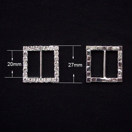 (L0003) free shipping wholesale 10pcs lot 20mm inner bar rhinestone square  buckle 3c8a57adeb4c