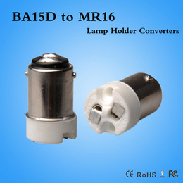 Wholesale Light Bulbs Cfl Free Shipping - Hot sale free shipping BA15D to MR16 adapter converter Led CFL light bulb BA15D-MR16 converter CE ROHS