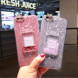 Wholesale New Light Case - New For iPhone7 6S Perfume Quicksand Powder Case High Quality TPU Soft Case Protective Cover with Retail Bag Free Shipping
