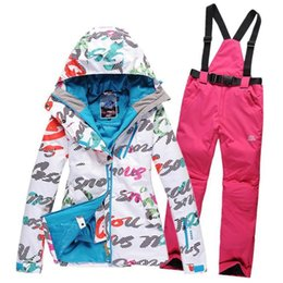 Wholesale Warmest Womens Ski Jacket - Wholesale- 2016 High quality lady ski suit 3style 17color womens skiing sets waterproof winter thick warm coats clothes Free shipping