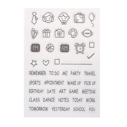 Wholesale Scrapbooking Cards - Wholesale- New Stamps For Scrapbooking Clear Stamp Embossing Folder Transparent DIY Silicone Seals Scrapbooking Card For Decoration