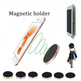 Wholesale Flat Stand - Magnetic cellphone holder Mobile Smart Phone flat mount stand Magnetic mounts For iPhone Samsung with pack