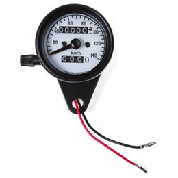 Wholesale Odometer Parts - B731 Universal Dual Odometer Speedometer Gauge Speed Meter High Quality Motorcycle Modification Part Night Light LED Backlight