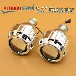 "Wholesale H7 Xenon Car Bulb - 2.5"" Mini H1 Hid Projector Lens With Shroud for H4 H7 Car Headlight retrofit used H1 Xenon bulb"