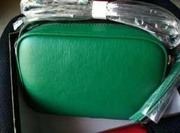 Wholesale Camera Bag Small Leather - New famous brand Classic genuine leather with box luxury high quality camera bag Messenger bag 4 color green red camel white