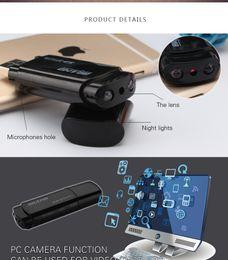 Wholesale Night Vision Flash Usb - Infared Night Vision U-Disk Camera 1080P HD Mini Wireless Hidden Spy Camera USB Flash Drive Video Camera Camcorder Spy USB Recorder 120 Degr