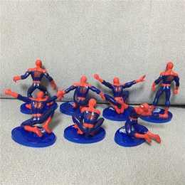 Wholesale Superman Action Figure Toys - 7Pcs Set Spider-Man Figure The Avengers Spiderman Spider Man PVC Action Figure Toys 7-11cm Great Gift