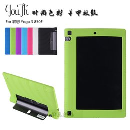 """Wholesale Lenovo Yoga Tablet Cover - Wholesale-For Lenovo Yoga tablet 3 850f silicon case,For Lenovo yoga tab 3 8.0"""" sweety Soft back cover shell pouch"""