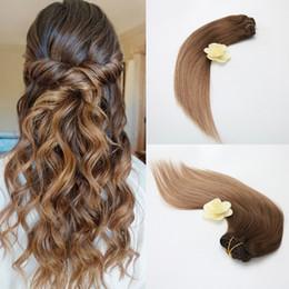 Wholesale fine human hair - Cheap 100% Human Hair Clip 7Pcs 100g in Hair Extension Finest Quality Vrgin Raw Unprocessed Virgin Brazilian Hair