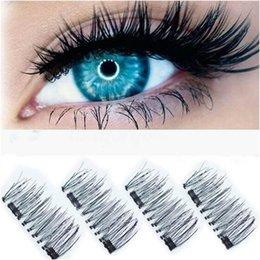Wholesale Eye Doubling Glue - 3D Double Magnetic Eyelashes Natural Beauty No Glue Reusable Fake Eye Lashes Extension Handmade