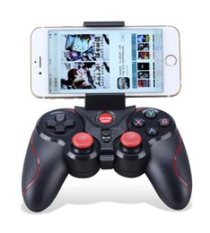 Wholesale Handle Pc Tablet - Bluetooth Gamepad Cell Phone Game controller Remote Selfie Shutter joypad Handle For Android ios Smart Mobile Phone Tablet PC
