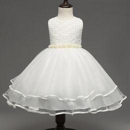 Wholesale European Designer Chiffon Dresses - summer girls party dress 2017 new designer children teenagers prom ceremonies gowns dresses birthday princess dress 12 years