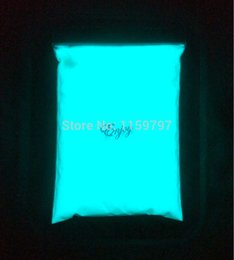 Wholesale White Paint Pigment - Wholesale- White photoluminescent powder phosphor powder for DIY Paint Pigment 500g bag,decorating material,Glow Blue Color In the Dark