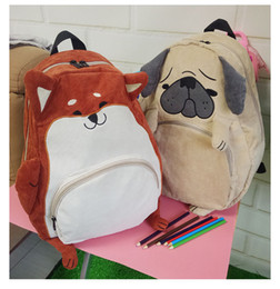 Wholesale Female Cloths - Wholesale- SUPER QUALITY Japanese cute animal Pug bag original cloth backpack of junior high school students autumn schoolbag female gift