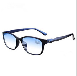 Wholesale Computer Tv Free - New Anti-Blu-ray Reading Glasses TR90 Ultralight Computer TV Anti Radiation UV Presbyopia Prescription Lens 10pcs Lot Free Shipping