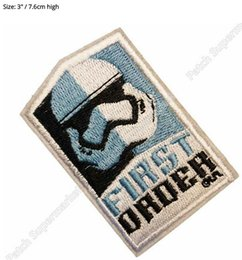 Wholesale Iron First - STAR WARS 7 VII The Force Awakens FIRST ORDER TV Movie Series Uniform applique iron on patch For Shirt Cap Sweater