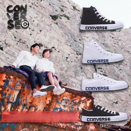Wholesale Red Blue Song - Original Converse Descendants of the Sun Shoes For Song Joong Ki Song Hye Kyo Men Women Running Sneakers High & Low Cut Skate Canvas Shoe