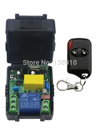 Wholesale Control For Garage Door - Wholesale- AC220V 10A 1CH Wireless Remote Control Switch System Receiver + cat eye Transmitters for Appliances Gate Garage Door