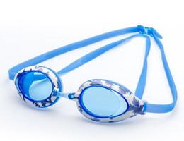 Wholesale Swims Coat - Professional Anti Fog UV Swimming Goggles Coating Swim Glasses waterproof shivering swim eyewear junior kids child swim goggle