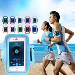 Wholesale Cell Armband Wallet - For S7 Edge S8 Case Iphone 6 7 plus Waterproof Sports Running Armband Case Workout Armband Holder Pounch For Iphone Cell Phone Arm Bag Band