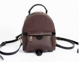 Wholesale Girls Pu Leather Handbags - AAAA NEW 2017 BAG 100% leather NEW PALM SPRINGS BACKPACK MINI handbag SMALL NEW PALM SPRINGS BACKPACK MINI HANDBAG school bags