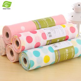Wholesale Colorful Drawer - Wholesale-30X300CM PC(1 Roll) Colorful Kitchen Drawer Mat Waterproof Drawer Paper Practical Table Mat
