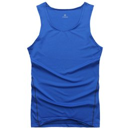 Wholesale Tight Tank Tops For Men - Wholesale- 2016 Men Cool Vest Shirt Top Wicking Breathable Tank Tops Tight shirt For Men
