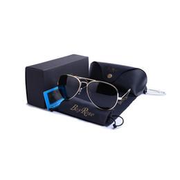 Wholesale Glasses Aviator Box - BoyRose 58 MM New Style Aviator Sunglasses For Men Women Vintage Pilot Brand Sun Glasses Band Polarized UV400 Ben Mirror Glass With Box