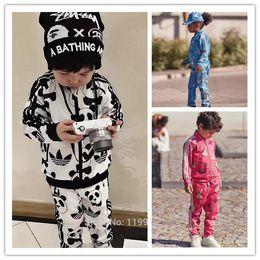 Wholesale Kids Panda Hoodie - 2017 SPRING autumn panda HOODIES+PANTS 2 PCS CLOTHING SETS KIDS rabbit sport suitsCHILDREN CLOTHING VETEMENT ENFANT vestidos