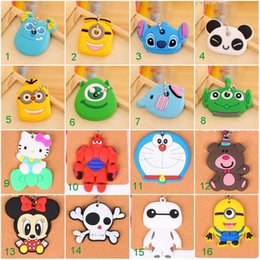 Wholesale Promotions Items - cute key cover silicon Animals Key Caps Covers Keys Keychain Case Shell Novelty Item Key Accessories Car Keychain