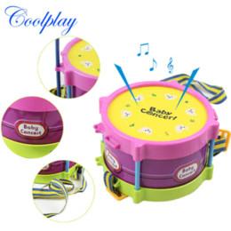 Wholesale Sanding Drum Set - Hot sale Free shipping 5pcs musical playing type sets multicolor plastic drum   handbell   trumpet   sand hammer  drum sticks