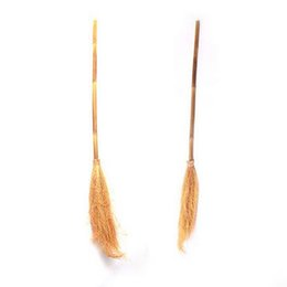 Wholesale Wholesale Witches Brooms - Halloween Dress Up Witch Sorcerer Witch Witch Broom Flying Fantastic Sorcerer Sword Decorative Props free shipping